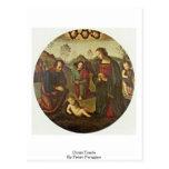 Cristo Tondo de Pedro Perugino Postal