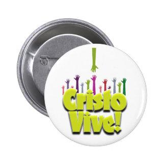 Cristo Vive (2) Pin Redondo De 2 Pulgadas