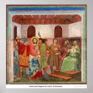 Cristo y Caiphus de Giotto Di Bondone Impresiones