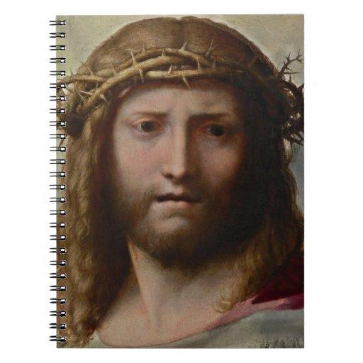 Cristo y corona de espinas libreta
