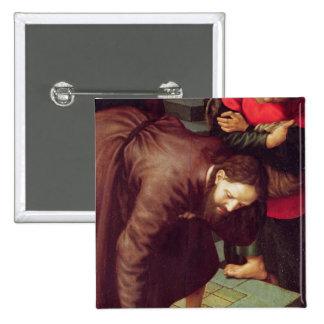 Cristo y el adulterio admitido mujer pin cuadrado