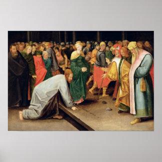 Cristo y el adulterio admitido mujeres, 1628 póster