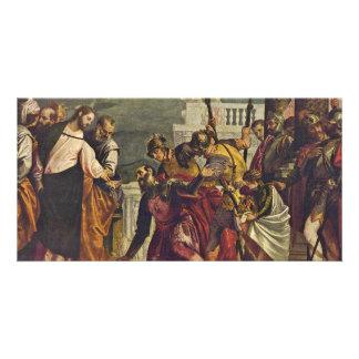 Cristo y el centurión de Capernaum por Veronese Tarjetas Personales Con Fotos