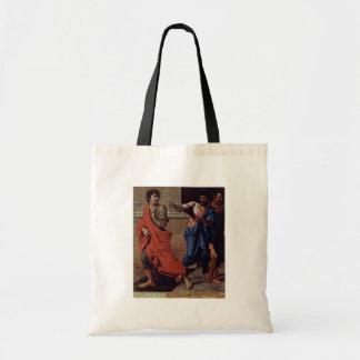 Cristo y el detalle de la adúltera de Poussin Nico Bolsas