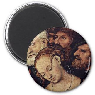 Cristo y el detalle de la adúltera por Cranach D.J Imanes De Nevera