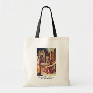 Cristo y la adúltera de Caron Antoine Bolsa De Mano