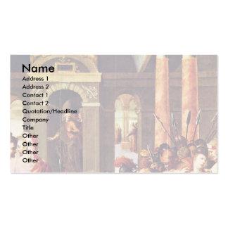 Cristo y la adúltera de Caron Antoine Plantillas De Tarjeta De Negocio