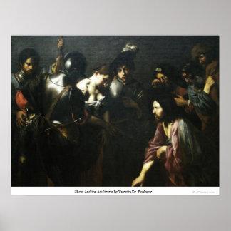 Cristo y la adúltera de Valentin De Boulogne Posters