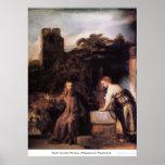 Cristo y la mujer de Samaria de Rembrandt Posters