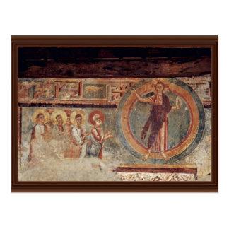 Cristo y los apóstoles de Meister Von Negrentino Tarjeta Postal