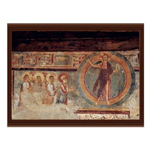 Cristo y los apóstoles de Meister Von Negrentino Tarjetas Postales