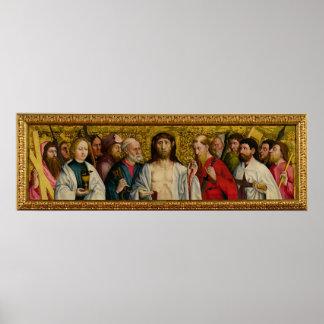 Cristo y los doce apóstoles póster