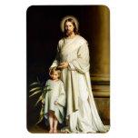 Cristo y niño. Imán del regalo de la bella arte