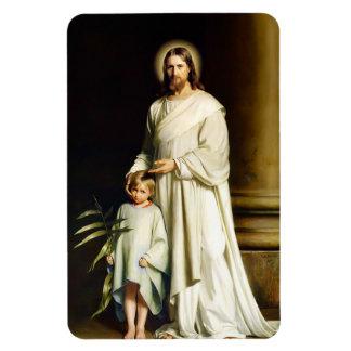 Cristo y niño. Imanes del regalo de Pascua de la