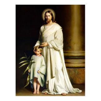 Cristo y niño Postales de Pascua de la bella arte