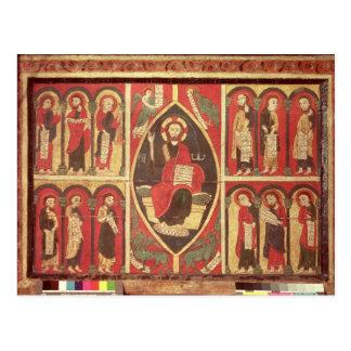 Cristo y sus apóstoles postal