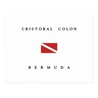Cristobal Colon Bermuda Scuba Dive Flag Postcard