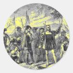 Cristóbal Colón Etiqueta Redonda