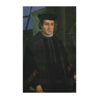 Cristóbal Colón Lienzo Envuelto Para Galerias
