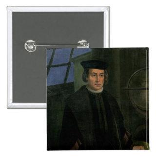 Cristóbal Colón Pin Cuadrada 5 Cm