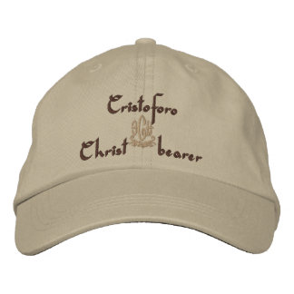 Cristoforo Name With Italian Meaning Embroidered Baseball Caps