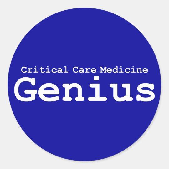 Critical Care Medicine Genius Gifts Classic Round Sticker