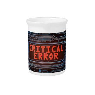 Critical error concept. pitcher