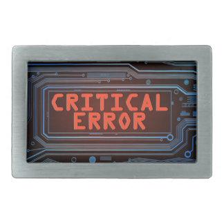 Critical error concept. rectangular belt buckle
