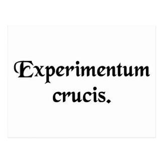 Critical experiment. postcard