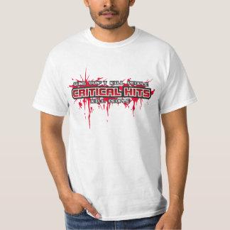 Critical Hits Kill People (White) Tee Shirt