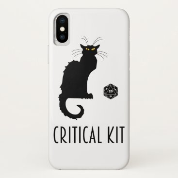 Critical Kit Funny Cat D20 RPG Tabletop Gaming iPhone X Case