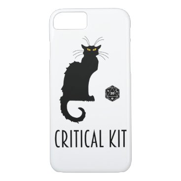 Critical Kit Funny Cat D20 RPG Tabletop Gaming iPhone 8/7 Case