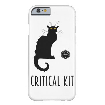 Critical Kit Funny Cat D20 RPG Tabletop Gaming Barely There iPhone 6 Case