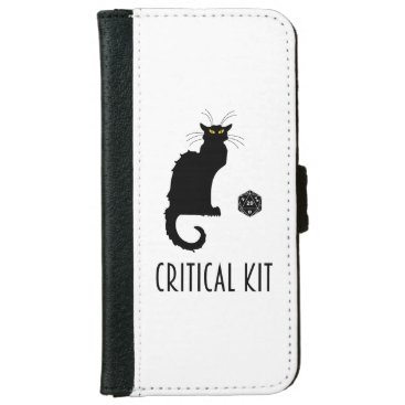Critical Kit Funny Cat D20 RPG Tabletop Gaming iPhone 6/6s Wallet Case