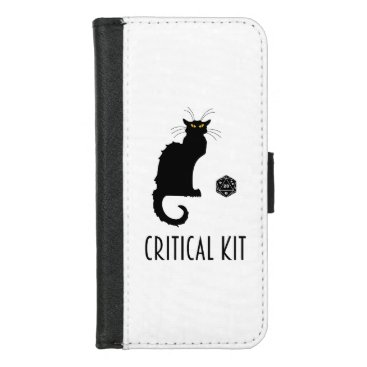 Critical Kit Funny Cat D20 RPG Tabletop Gaming iPhone 8/7 Wallet Case