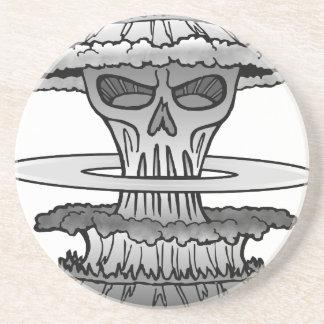 Critical Mass - B&W Version Sandstone Coaster