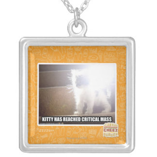 Critical Mass Kitty Square Pendant Necklace