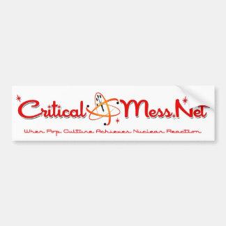 Critical Mess Bumper Sticker!