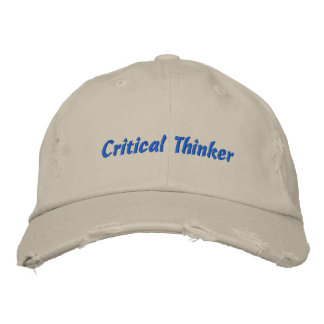 Critical Thinker Distressed Cap Embroidered Hats