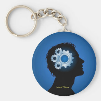 Critical Thinker Keyring Basic Round Button Keychain