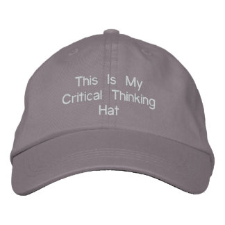 Critical Thinking Hat Embroidered Hat