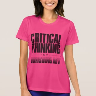 'Critical Thinking' Shirt with black text