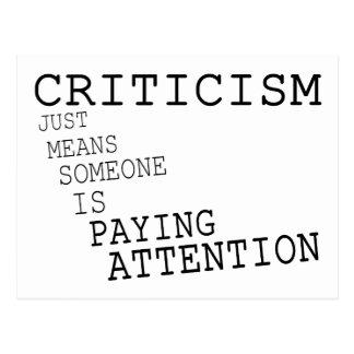 Criticism Postcard