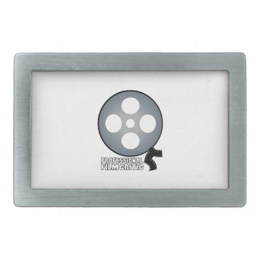 Crítico de cine profesional hebillas de cinturón rectangulares