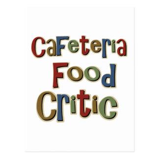 Crítico de la comida de la cafetería postales