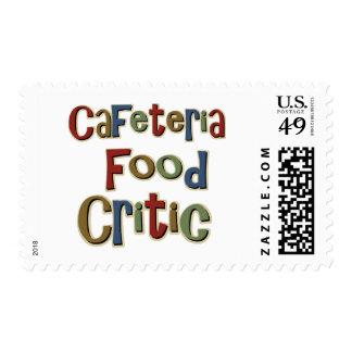 Crítico de la comida de la cafetería sellos