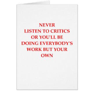 critics card