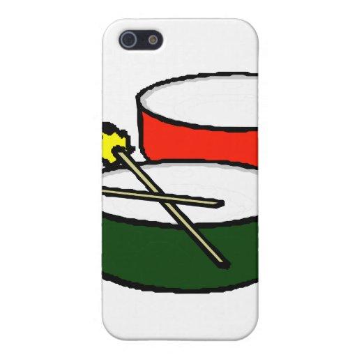 critique los tambores verdes rojos principales bla iPhone 5 carcasas
