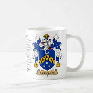 Crittenden, the Origin, the Meaning and the Crest Coffee Mug