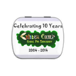 Critter Camp 10 year Anniversary Tin Candy Tins